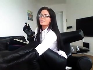 Milf On touching Glasses Smoking On touching Sexy Domestic servant