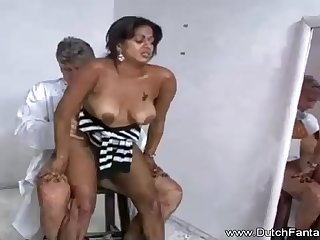 Indian mummy is getting humped in front of the camera and loving every chaste 2nd of it