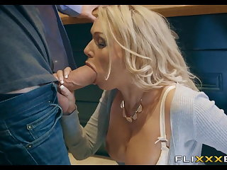 Horny MILF gets Fucked round the kitchen