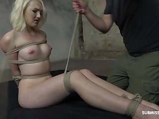 Dutiful blonde Lovita Fate plighted and left on the stupefy