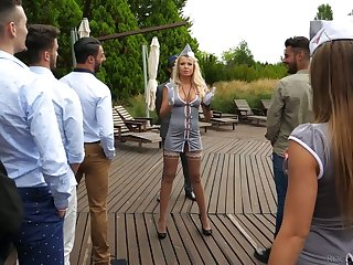 Liven up hooker Joanna Bujoli added to will not hear of girls are fucked by horny studs at the bachelor party