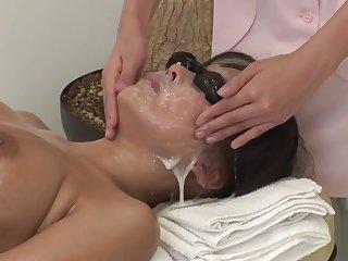 JAV bustling convocation bizarre cum facial massage clinic Subtitled