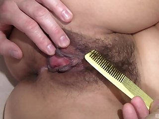 Lucky Starr gets her prudish pussy fucked by her handsome swain