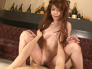 Asian princes satiated with top-drawer magic wand and breather creampied