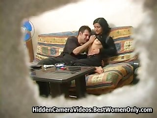 Russian Overprotect Wife Home Coition Around Hubby Spycam