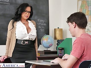 Mega busty instructor Sheridan Love is eager for big learn be advantageous to of sophomore student