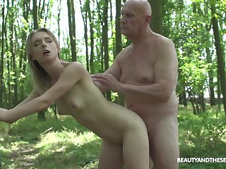 Pretty blonde Lily Ray grabs his cock and in bits sucking on it