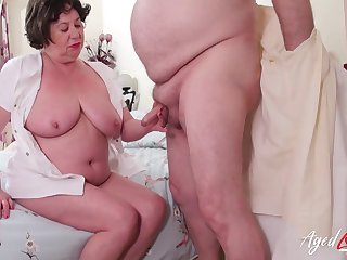 British mature lady Trisha enjoys hardcore drilling be advantageous to her hole