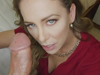 Cherie Deville gets creampied increased by stuffed with big penis