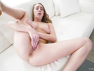 Wide-eyed babe Underline Lux gets face fucked and facialized