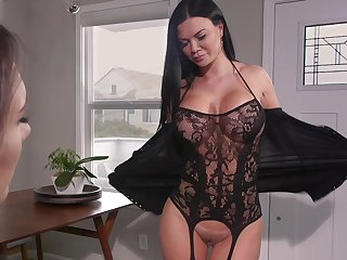 Hot MILF loves to attempt a pussy grinding on her face and she loves strap-on sexual congress