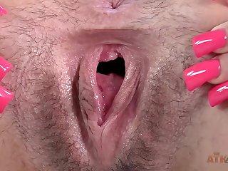 Babe, Hairy, Masturbation, Solo, Toys