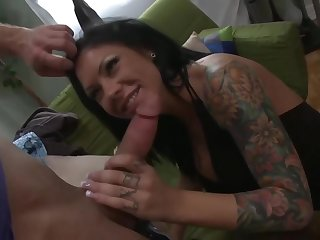 Brunette with big titties got too horny to hold just about from cheating first of all the brush partner