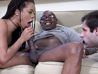Tight Cunt Interracial Pumping Winning Of Cuckold Husband