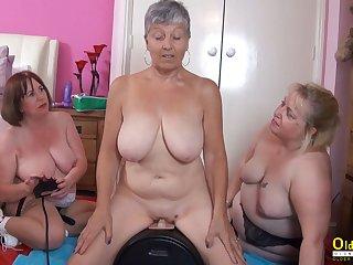 OldNannY Three British Matures and Sex Requisites