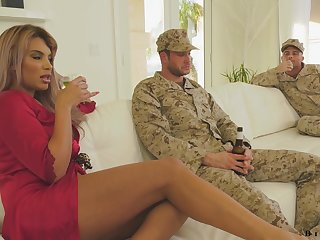 Sexual intercourse undernourished housewife having an MMF troika with two bisexual men