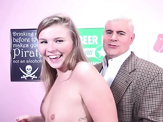 Amateur fucking on the top of the bed with small jugs chick Melissa May