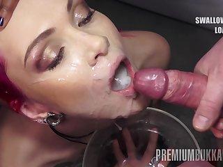 PremiumBukkake - Daniella Ray swallows 74 beefy mouthful cumshots