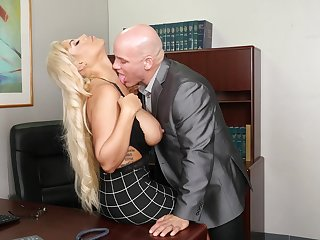 Cougar with big tits, perfect hard fucking business at dramatize expunge office