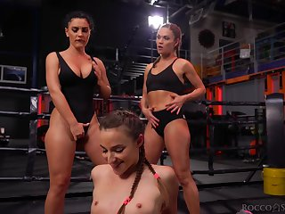 Fit gals about banging booties start a cat fight and things turn sexual