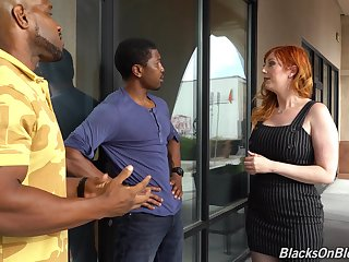 Curvaceous white milf Lauren Phillips is fucked by a handful of hot blooded black guys