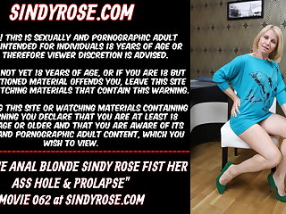 Extreme anal blonde Sindy In top form fist her ass crack & prolapse