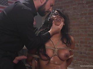 Slave girl Sadia Santana fucked balls deep by her male master