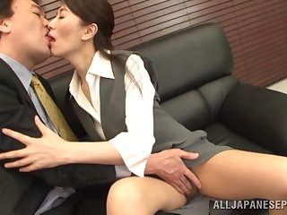 Small confidential Japanese wife gives a blowjob plus gets fucked. HD