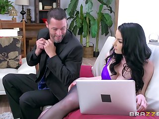 Fine ass brunette finger fucked in both holes and drilled in cuckold XXX
