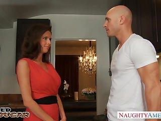 Cougar enjoys intense grown-up orgasm with hot blooded baldie Johnny Sins