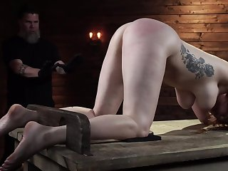 Lauren Phillips gets rough BDSM training in the sex prison
