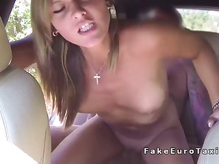 Gorgeous Czech Girl Fucks Taxi Drivers For Free Ride - Creampie