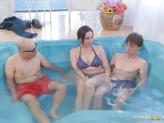 Secretly Rubbed In The Hot Tub
