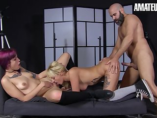 Newbie Joins Kinky Pornstar Threesome - Max Cortes And Lilyan Red
