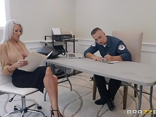 50 yo cougar Emma Star gets intimate with handsome policeman
